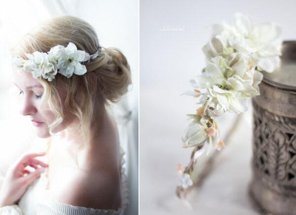 Rahel Vintage Blumenkranz Hochzeit Blumen Ivory-06