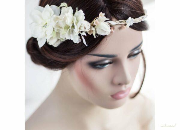 Rahel Vintage Blumenkranz Hochzeit Blumen Ivory-07