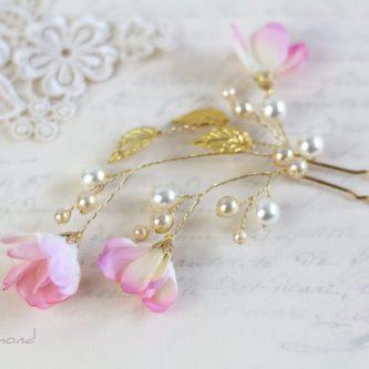 Selicia II Haarnadel Perlen Blumen Hochzeit Haarschmuck-04
