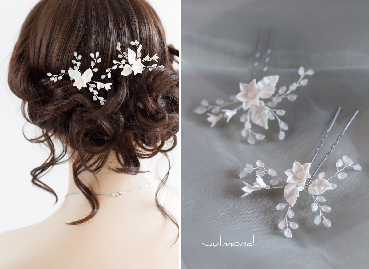 Braut haarschmuck mit perlen  Selina - Julmond