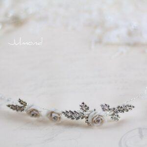 Taliena II Hochzeit Silber Tiara Haarband Haarschmuck-03