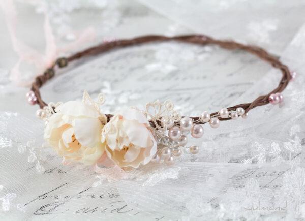 Valentina Haarband Perlen Diadem Hochzeit Haarkranz Rosen-03