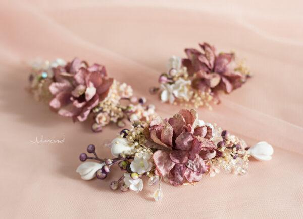 Abiba Haarblüte Blumen Hochzeit Oktoberfest Haarclip-06