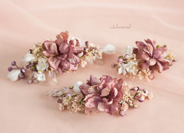 Abiba Haarblüte Blumen Hochzeit Oktoberfest Haarclip-07