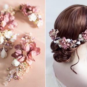 Abiba Haarblüte Blumen Hochzeit Oktoberfest Haarclip-09