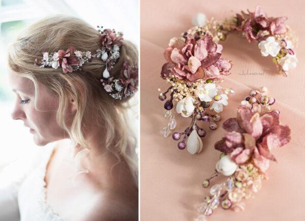 Abiba Haarblüte Blumen Hochzeit Oktoberfest Haarclip-10