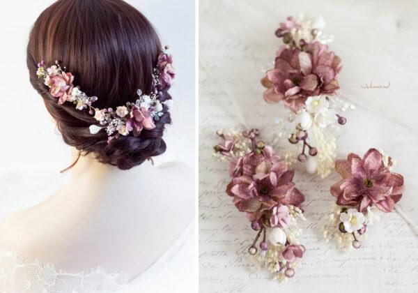 Abiba Haarblüte Blumen Hochzeit Oktoberfest Haarclip-12