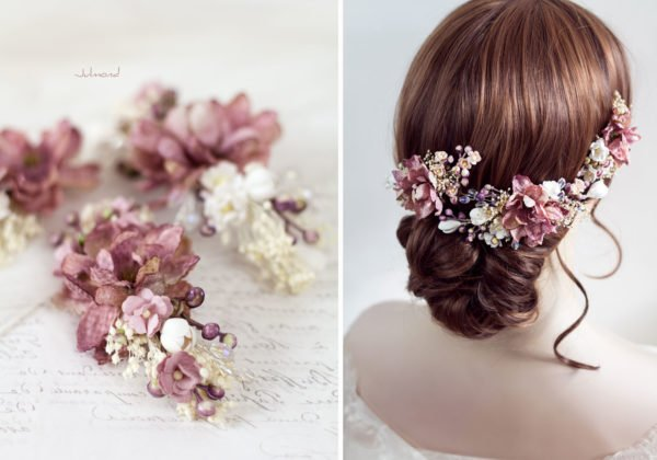 Abiba Haarblüte Blumen Hochzeit Oktoberfest Haarclip-13