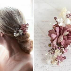 Abiba Haarblüte Blumen Hochzeit Oktoberfest Haarclip-14