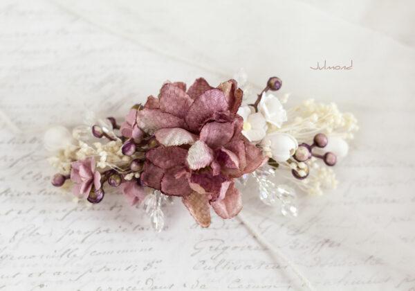 Abiba Haarblüte Blumen Hochzeit Oktoberfest Haarclip-15