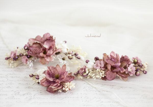 Abiba Haarblüte Blumen Hochzeit Oktoberfest Haarclip-17