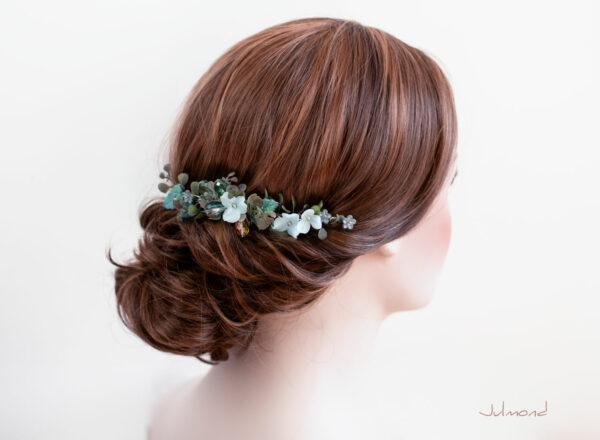 Achley Haarkamm Hochzeit Perlen Blau Strass-01
