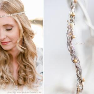 Alenia Braut Haarband Perlen Hochzeit-10