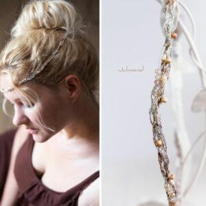 Alenia Braut Haarband Perlen Hochzeit-14