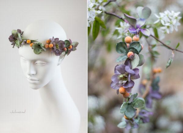 Amba Haarband Blumen Brautjungfer-01