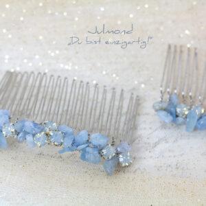 Aquamarin Haarkamm Braut Blau-01