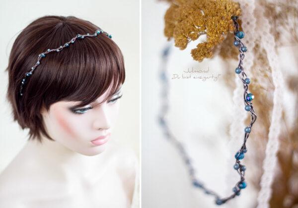 Azula Haarschmuck Hochzeit Blau-06