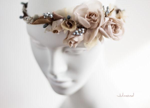 Braut Vintage Haarband Blumen-01