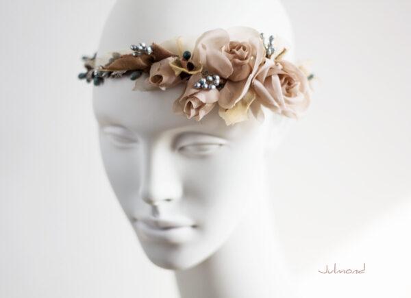 Braut Vintage Haarband Blumen-02