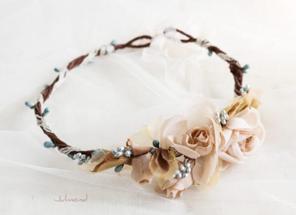 Braut Vintage Haarband Blumen-03
