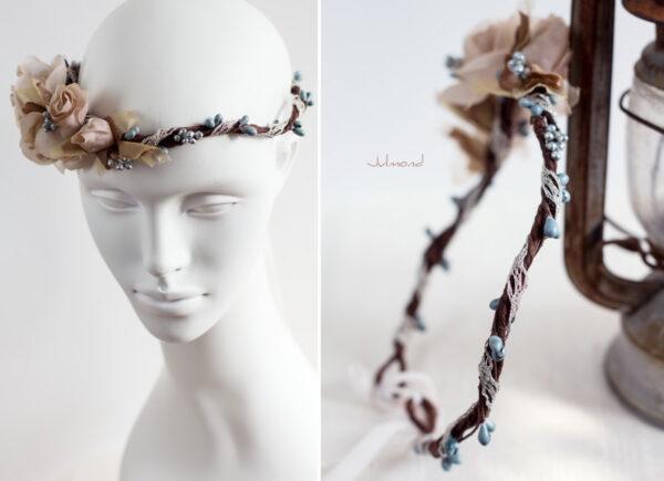 Braut Vintage Haarband Blumen-04
