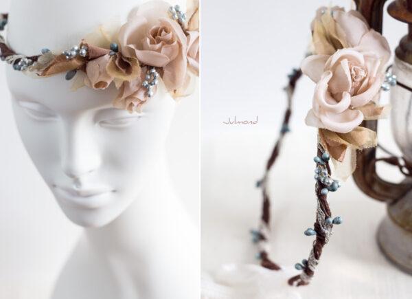 Braut Vintage Haarband Blumen-05