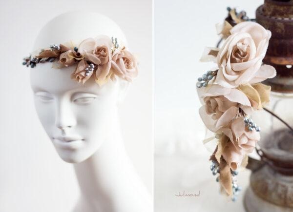 Braut Vintage Haarband Blumen-06