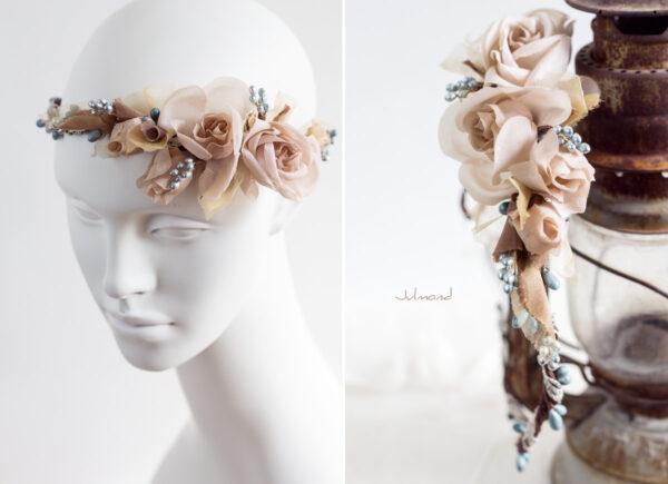 Braut Vintage Haarband Blumen-07
