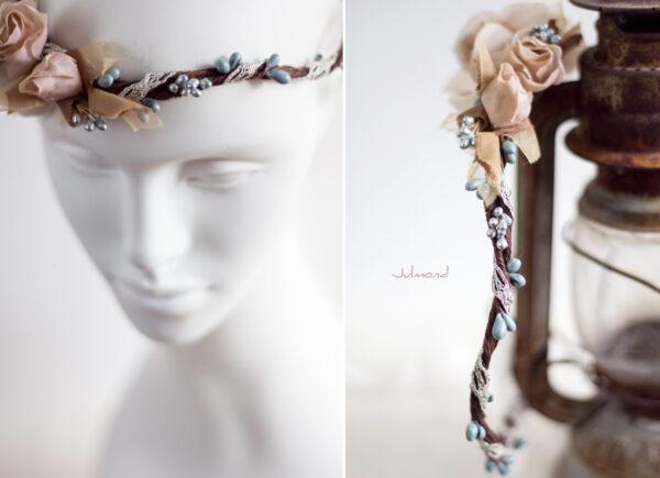 Braut Vintage Haarband Blumen-08