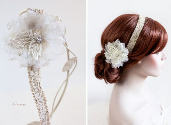 Camie II Haarband Blume Vintage Hochzeit -01