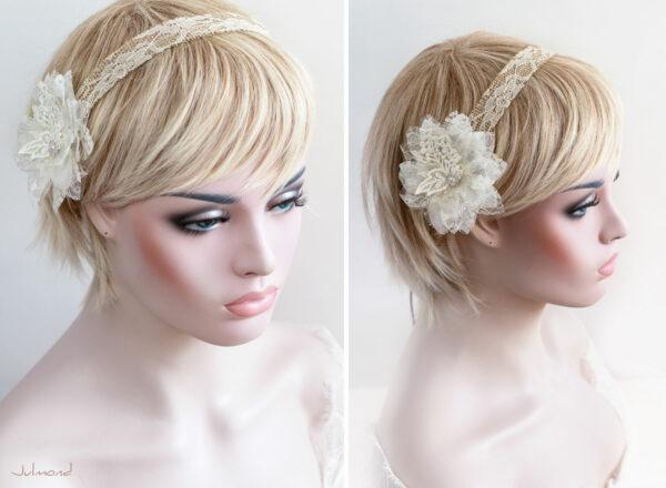Camie II Haarband Blume Vintage Hochzeit -02
