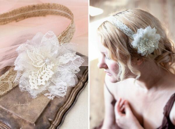 Camie II Haarband Blume Vintage Hochzeit -04
