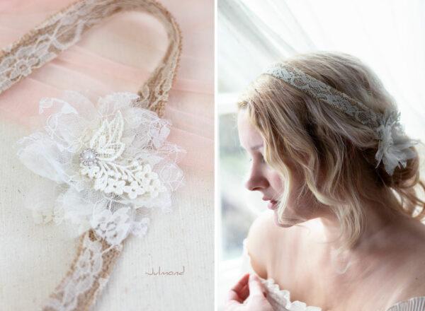 Camie II Haarband Blume Vintage Hochzeit -05