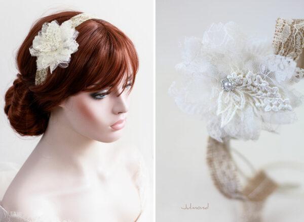 Camie II Haarband Blume Vintage Hochzeit -06