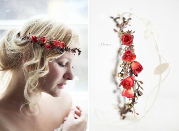 Cata Blumenkranz Hochzeit Rosen Rot-06