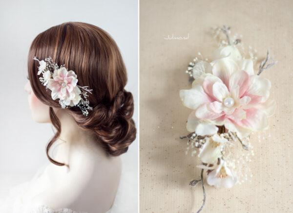 Chioma Haarblüte Braut Haarschmuck Blumen Haarclip-06