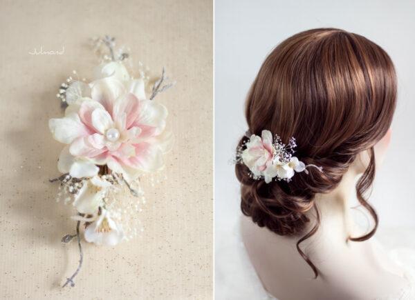 Chioma Haarblüte Braut Haarschmuck Blumen Haarclip-07
