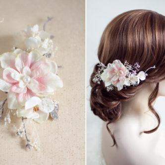 Chioma Haarblüte Braut Haarschmuck Blumen Haarclip-08