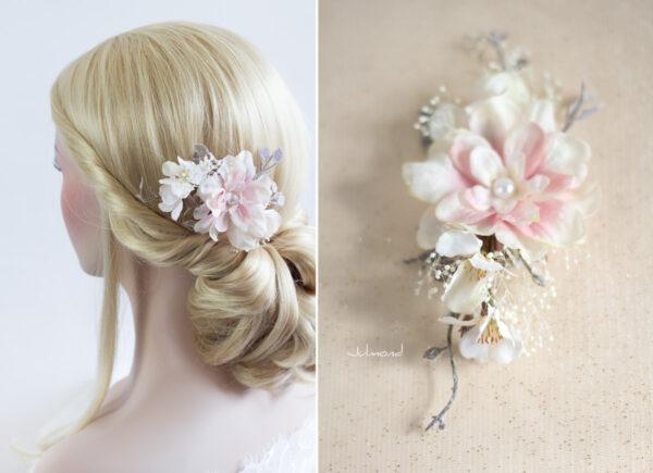 Chioma Haarblüte Braut Haarschmuck Blumen Haarclip-09