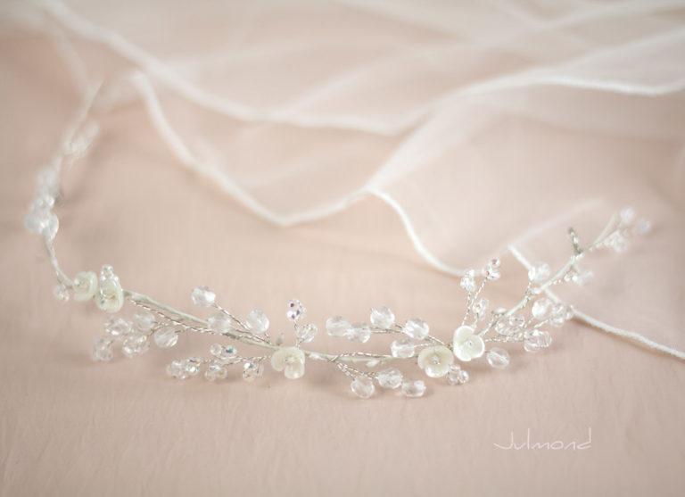 Cleo Tiara Eisprinzessin Diadem Hochzeit-10