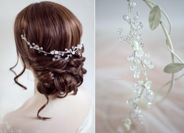 Cleo Tiara Eisprinzessin Diadem Hochzeit-11