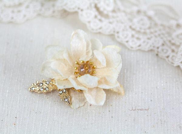 Dalila Haarbluete Braut Creme Gold -04