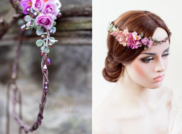 Dilek Haarschmuck Blumen Perlen Hochzeit Vintage-10