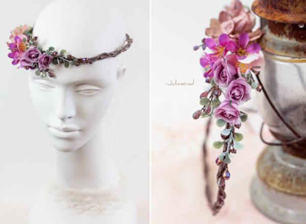 Dilek Haarschmuck Blumen Perlen Hochzeit Vintage-11