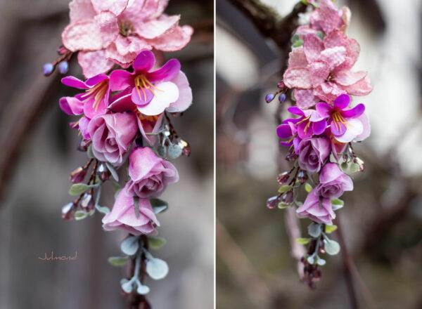 Dilek Haarschmuck Blumen Perlen Hochzeit Vintage-14