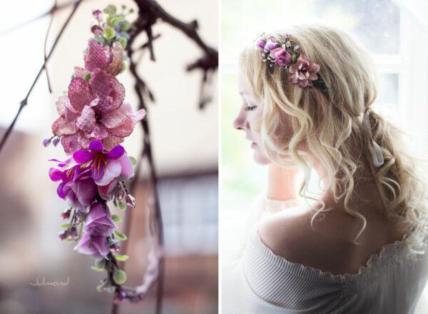 Dilek Haarschmuck Blumen Perlen Hochzeit Vintage-16