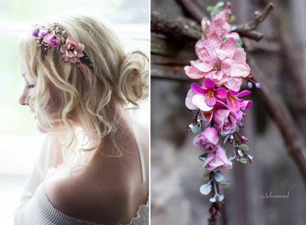 Dilek Haarschmuck Blumen Perlen Hochzeit Vintage-17
