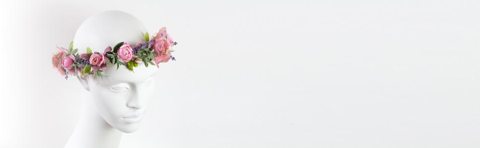 Haarschmuck Haarblüte Blumenkranz Braut Hochzeit Diadem Tiara