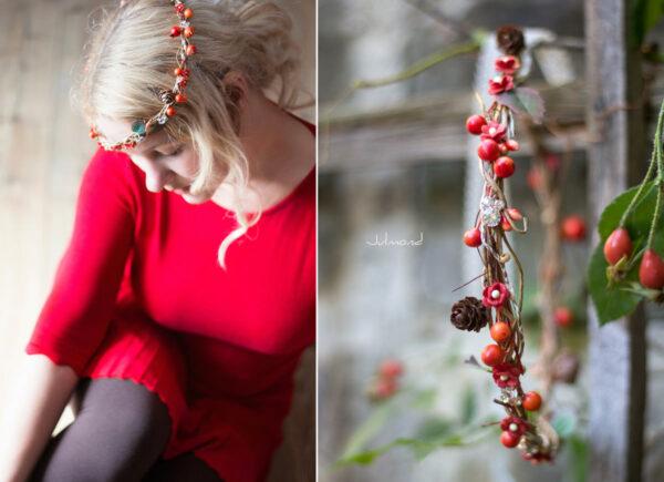 Elara Haarschmuck Blumen Herbst Orange-02