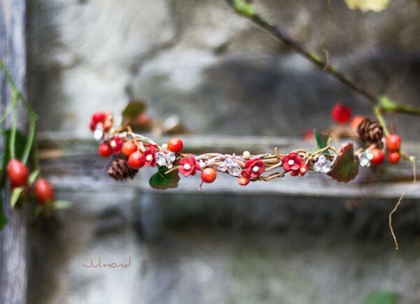 Elara Haarschmuck Blumen Herbst Orange-04